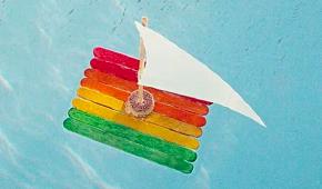 9. Rainbow Boat Race